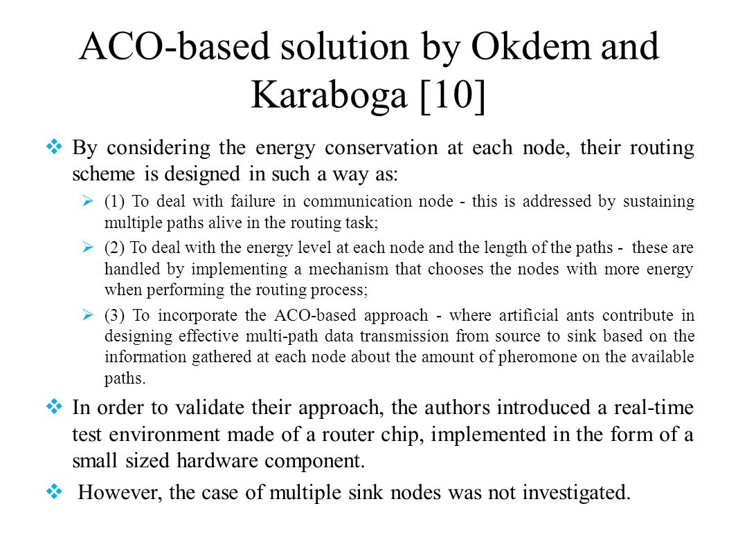 ACO-based solution by Okdem and Karaboga [10]